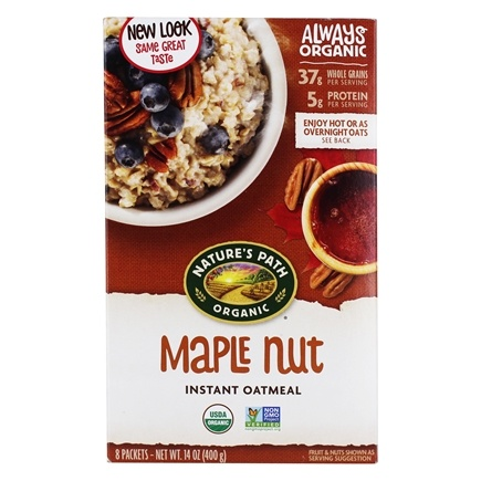 Nature's Path Organic - Instant Hot Oatmeal 8 x 50g Packets Maple Nut - 14 oz.