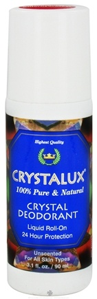 DROPPED: Crystalux - Crystal Deodorant Liquid Roll-On Unscented - 3.1 oz.