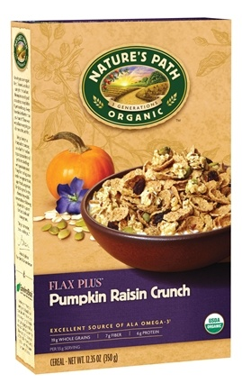 DROPPED: Nature's Path Organic - Cereal Flax Plus Pumpkin Raisin Crunch - 12.35 oz. CLEARANCE PRICED