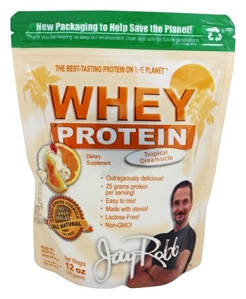 Jay Robb - Whey Protein Isolate Powder Tropical Dreamsicle - 12 oz.