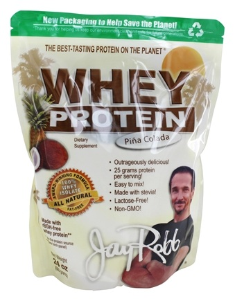 Jay Robb - Whey Protein Isolate Powder Pina Colada - 24 oz.