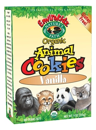 DROPPED: Nature's Path Organic - EnviroKidz Organic Animal Cookies Vanilla - 9 oz.