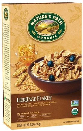 DROPPED: Nature's Path Organic - Cereal Heritage Flakes Whole Grains High Fiber - 13.25 oz.