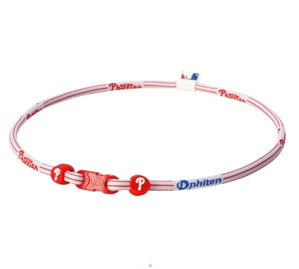 DROPPED: Phiten - Titanium Necklace X30 Philadelphia Phillies 18 inch - CLEARANCE PRICED