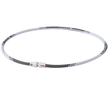 DROPPED: Phiten - Titanium Necklace X30 Edge 18 inch White - CLEARANCE PRICED