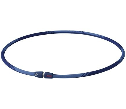 DROPPED: Phiten - Titanium Necklace X30 Edge 22 inch Blue - CLEARANCE PRICED