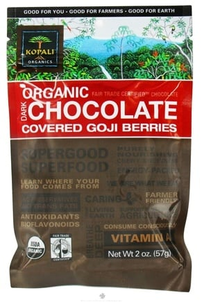 DROPPED: Kopali Organics - Organic Dark Chocolate Covered Goji Berries - 2 oz.
