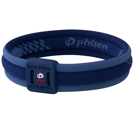 DROPPED: Phiten - Titanium Bracelet X30 Edge 6 3/4 inch Blue - CLEARANCE PRICED