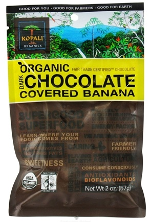 DROPPED: Kopali Organics - Organic Dark Chocolate Covered Banana - 2 oz.