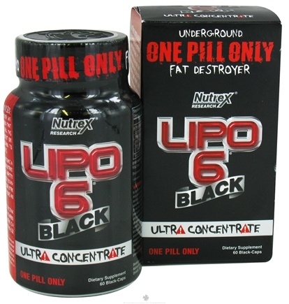 DROPPED: Nutrex - Lipo 6 Black Ultra Concentrate - 60 Capsules CLEARANCE PRICED