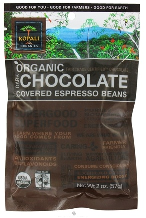 DROPPED: Kopali Organics - Organic Dark Chocolate Covered Espresso Beans - 2 oz.