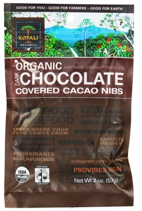 DROPPED: Kopali Organics - Organic Dark Chocolate Covered Cacao Nibs - 2 oz.