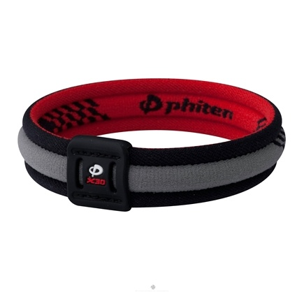 DROPPED: Phiten - Titanium Bracelet X30 Edge 6 3/4 inch Black/Red - CLEARANCE PRICED