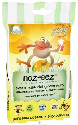 DROPPED: Natural Essentials - Kids Noz-Eez Extra Moisturizing Nose Wipes Silly Banana - 32 Wipe(s) CLEARANCE PRICED