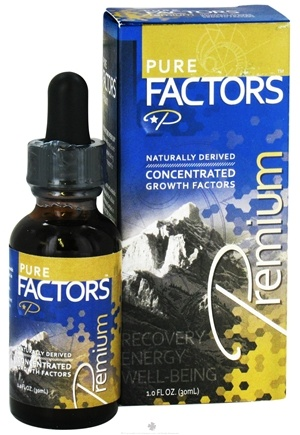 DROPPED: Pure Solutions - Pure Factors Premium Concentrated Growth Factors From Deer Velvet Antler - 1 oz. CLEARANCE PRICED