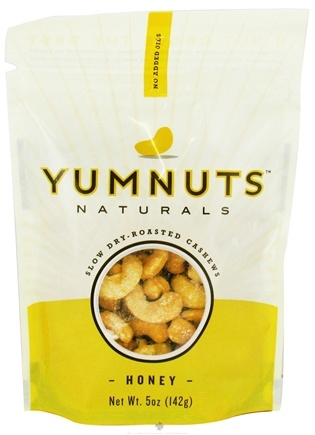 DROPPED: Yumnuts Naturals - Slow Dry-Roasted Cashews Honey - 5 oz.