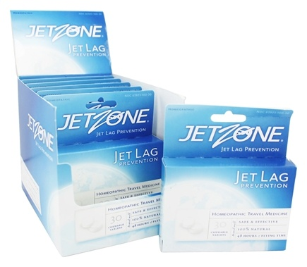 JetZone - Jet Lag Prevention Homeopathic Travel Medicine - 30 Chewable Tablets
