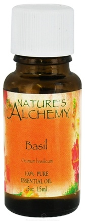 DROPPED: Nature's Alchemy - 100% Pure Essential Oil Basil - 0.5 oz. CLEARANCE PRICED