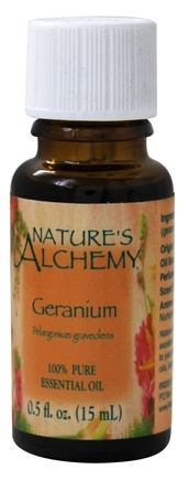 Nature's Alchemy - 100% Pure Essential Oil Geranium - 0.5 oz.