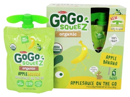 DROPPED: Materne - GoGo Squeez AppleSauce On The Go Apple Banana - 4 Pack/3.2 oz.