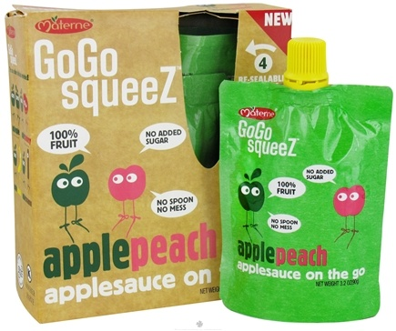 DROPPED: Materne - GoGo Squeez AppleSauce On The Go Apple Peach - 4 Pack/3.2 oz.