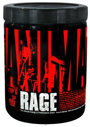DROPPED: Universal Nutrition - Animal Rage Amp'd Up Concentrated Powder Orange Juiced - 315 Grams CLEARANCE PRICED