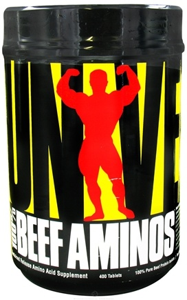 DROPPED: Universal Nutrition - 100% Beef Aminos Sustained Release - 400 Tablets