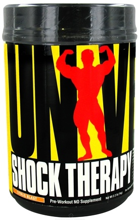 DROPPED: Universal Nutrition - Shock Therapy Pre-Workout NO Volumizer Citrus Blast - 2.2 lbs. CLEARANCE PRICED
