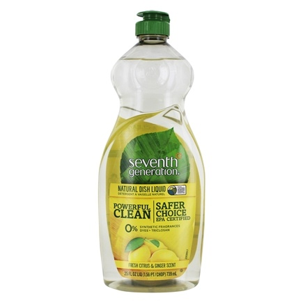 Seventh Generation - Natural Dish Liquid Fresh Citrus & Ginger - 25 oz.