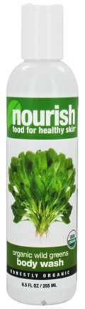 DROPPED: Nourish - Body Wash Organic Wild Greens - 8.5 oz. CLEARANCE PRICED