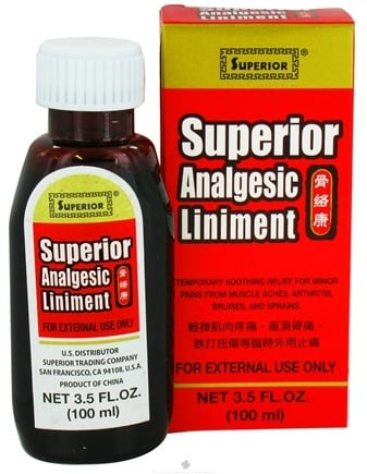 DROPPED: Superior Trading Company - Superior Analgesic Liniment - 3.5 oz. CLEARANCE PRICED