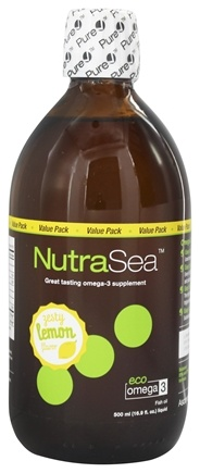Ascenta Health - NutraSea Balanced EPA & DHA Omega 3 Supplement Zesty Lemon Flavor - 16.9 oz.