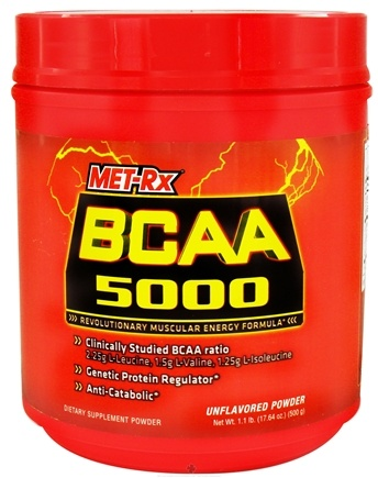 DROPPED: MET-Rx - BCAA 5000 Branched Chain Amino Acid Powder - 500 Grams CLEARANCE PRICED