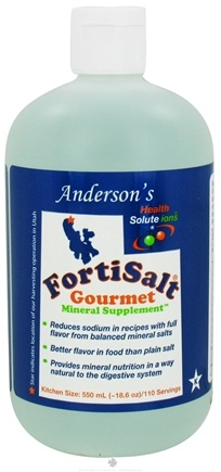 DROPPED: Anderson's Health Solute ions - FortiSalt Gourmet Mineral Supplement - 18.6 oz. CLEARANCE PRICED