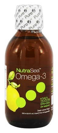 Ascenta Health - Omega-3 Liquid EPA & DHA Zesty Lemon Flavor 1250 mg. - 6.8 oz. Formerly Balanced EPA & DHA Omega-3 Supplement Lemon