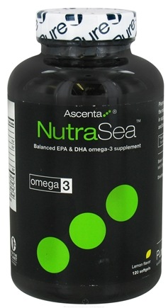 DROPPED: Ascenta Health - NutraSea Balanced EPA & DHA Omega 3 Supplement Lemon Flavor - 120 Softgels
