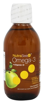 Ascenta Health - NutraSea +D EPA & DHA Omega 3 Supplement With Vitamin D Crisp Apple Flavor - 6.8 oz.
