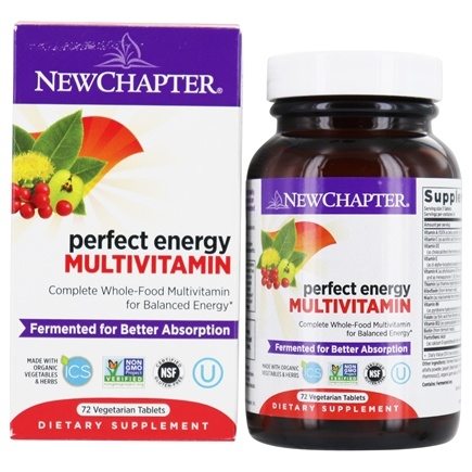New Chapter - Perfect Energy Whole-Food Multivitamin - 72 Tablets
