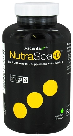 DROPPED: Ascenta Health - NutraSea +D EPA & DHA Omega 3 Supplement With Vitamin D Apple Flavor - 120 Softgels CLEARANCE PRICED
