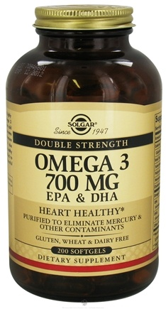 DROPPED: Solgar - Omega 3 EPA & DHA Double Strength 700 mg. - 200 Softgels CLEARANCE PRICED