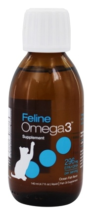 Ascenta Health - Feline Liquid Omega 3 EPA & DHA Fish Oil Supplement Ocean Fish Flavor - 4.7 oz.