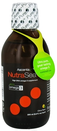 DROPPED: Ascenta Health - NutraSea High DHA Omega 3 Supplement Citrus Flavor - 6.8 oz. CLEARANCE PRICED