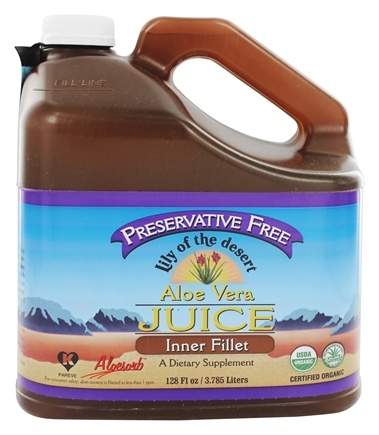 Lily Of The Desert - Aloe Vera Juice Inner Fillet Preservative Free Organic Gallon - 128 oz.