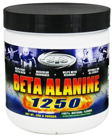 DROPPED: Supplement Training Systems - Beta Alanine 1250 Powder 100% Natural Flavor - 250 Grams CLEARANCE PRICED
