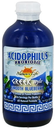 DROPPED: Nature's Life - Acidophilus Probiotic Greek Style Smooth Blueberry - 8 oz. CLEARANCE PRICED