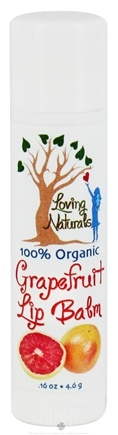 DROPPED: Loving Naturals - 100% Organic Lip Balm Grapefruit - 0.16 oz.