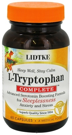 DROPPED: Lidtke Technologies - L-Tryptophan Complete Advanced Serotonin Boosting Formula - 60 Capsules
