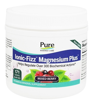 Pure Essence Labs - Ionic-Fizz Magnesium Plus Mixed Berry Flavor - 6.03 oz.