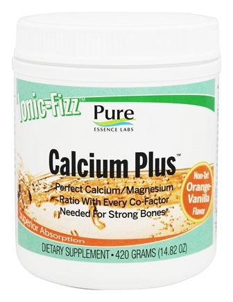 Pure Essence Labs - Ionic-Fizz Calcium Plus Orange-Vanilla Flavor - 14.82 oz.