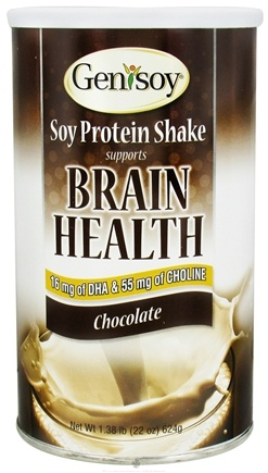 DROPPED: Genisoy - Brain Health Soy Protein Shake Chocolate - 1.38 lbs. CLEARANCE PRICED